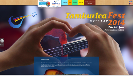 Tamburica fest, simple website with moving photos and illustrations