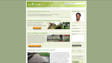 EcoTime project, Drupal website for Sweedish gardening startup