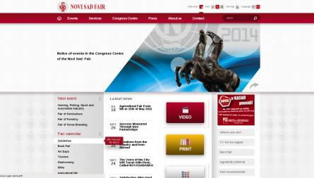 Novi Sad Fair project, complete website reconstruction