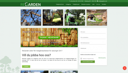 ReGarden project, responsive Drupal web shop for gardening services