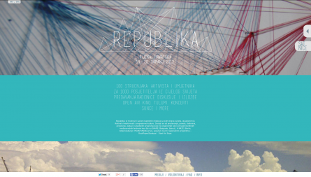 Project Republika, one-page website for Internet rights conference