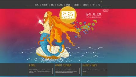Sea Dance festival project, a responsive website for multiple devices
