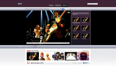 EXIT TV web platform, a Youtube without page reload streaming platform