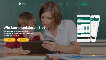 KlassenWeb project, web and mobile app and portal for teacher-parent communication