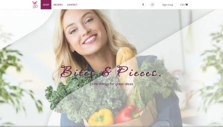 Bites & pieces E-commerce project, fully developed and customized Drupal website